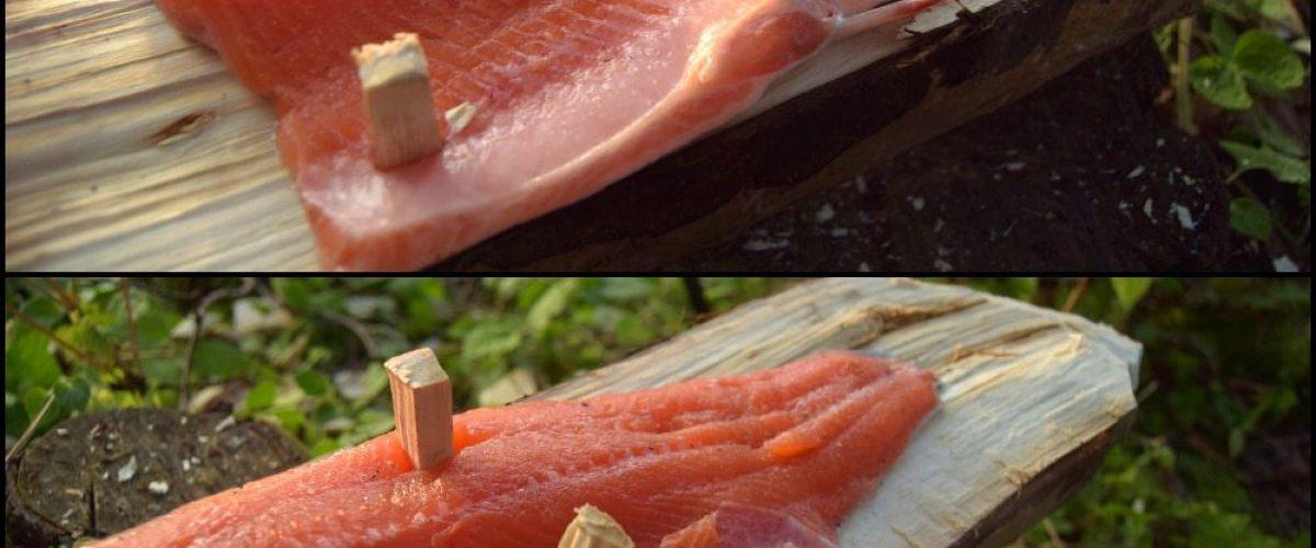Siamo pronti per posizionare il salmone